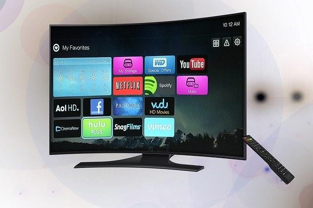 スマートテレビに映る動画配信サービス
