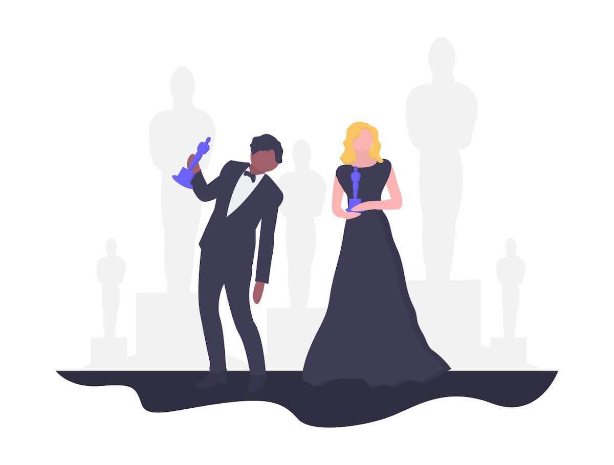 映画の授賞式イラスト