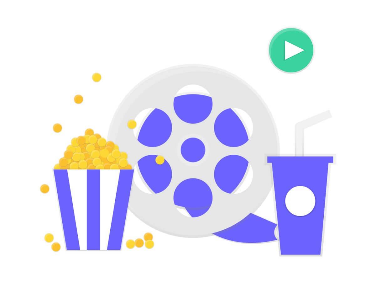 映画とポップコーン