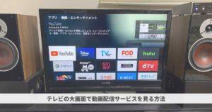 テレビ画面に動画配信サービスの映像