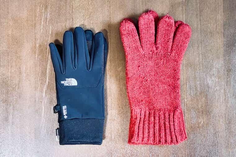 手袋の比較でコンパクトを表現